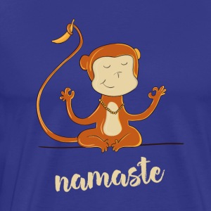namaste affectionate banana humor buddha meditation yoga - Men's Premium T-Shirt