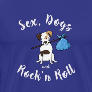 dog terrier dogs sex rock'n roll cool humor loving - Men's Premium T-Shirt