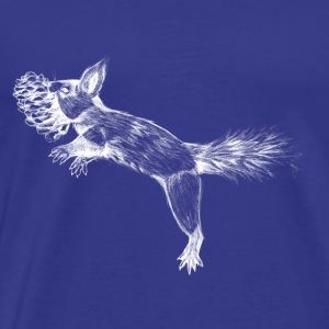 Jumping Squirrel - Herre premium T-shirt