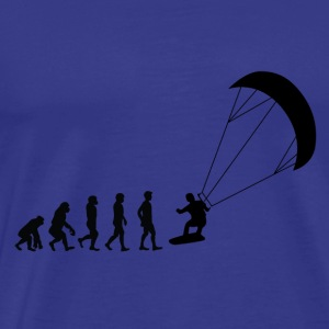 Evolution kite surfing - Premium-T-shirt herr