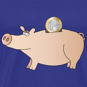 Piggy bank | Lucky pig Pig Euro saving - Men's Premium T-Shirt