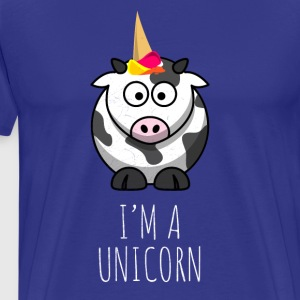 I'm a unicorn - funny cow - crazy cow - Men's Premium T-Shirt