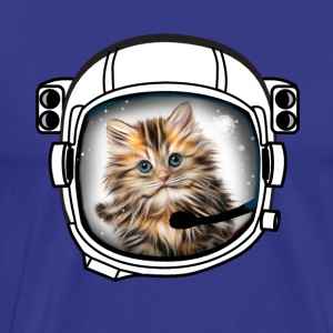 chat casque cosmonaute astronaute univers cool fun - T-shirt Premium Homme