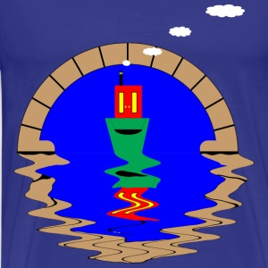 smalboot en tunnel - Mannen Premium T-shirt