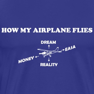 How to Fly My Airplane Gift Pilot - Men's Premium T-Shirt