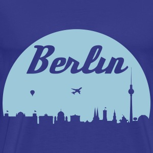 Berlin skyline - Premium T-skjorte for menn