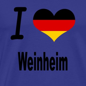 I Love Germany Home Weinheim - Männer Premium T-Shirt