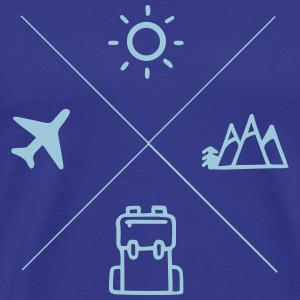 TRAVEL - Mannen Premium T-shirt