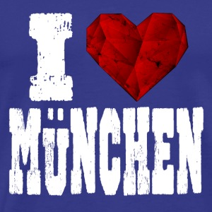 i love Muenchen love spruch heart ruby ​​red - Men's Premium T-Shirt