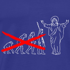 Jesus evolution - Premium-T-shirt herr