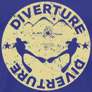 DIVERTURE Dive & Camp - Premium T-skjorte for menn