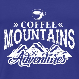 KAHVI Mountains: COFFEE MOUNTAINS ADVENTURE GIFT - Miesten premium t-paita