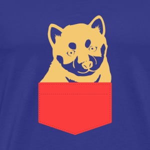 Dog Shiba In A Pocket - Men's Premium T-Shirt