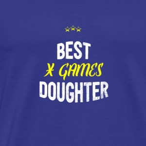 Distressed - BEST X GAMES DAUGHTER - T-shirt Premium Homme