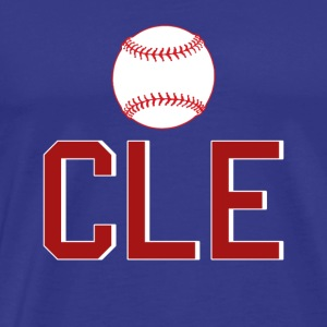 Cleveland Baseball Throwback CLE - Men's Premium T-Shirt