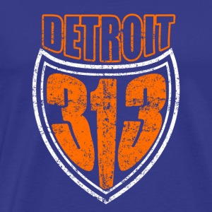 Detroit 313 Shirt Distressed - Mannen Premium T-shirt