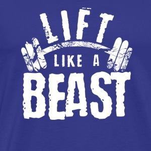 lift dumbbell Christmas gift new fitness train - Men's Premium T-Shirt