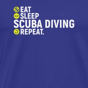 Eat, sleep, dive, repeat - gift - Men's Premium T-Shirt