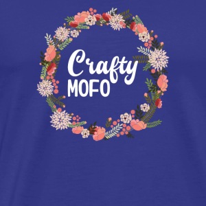 Crafty Mofo With Flower Graphic Ring - Men's Premium T-Shirt