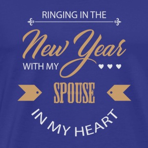 New Year's Eve New Year New Year's Bride Couple Love - Men's Premium T-Shirt