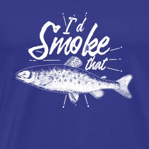 Gift for anglers the smoking - Men's Premium T-Shirt