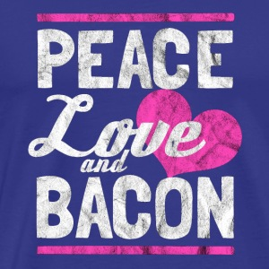 Peace, Love og Bacon - Gift - Premium T-skjorte for menn
