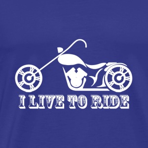 I love to ride - Men's Premium T-Shirt