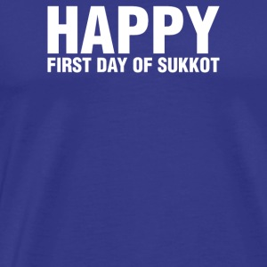 Happy Sukkot Holiday - Mannen Premium T-shirt