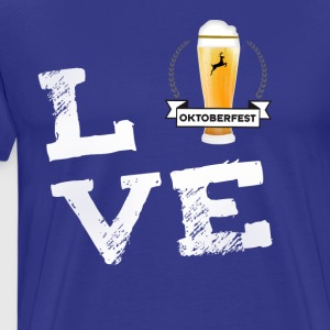 love oktoberfest bier Humpen wiesn Prost Craft lol - Männer Premium T-Shirt