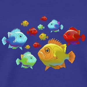 Fish grouper ocean saltwater aquarium Angler - Men's Premium T-Shirt