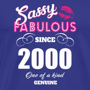 Sassy Fabulous Since 2000 - Men's Premium T-Shirt