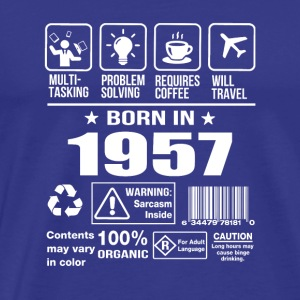 Born In 1957 - Men's Premium T-Shirt