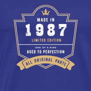 Made In 1987 Limited Edition All Original Parts - Men's Premium T-Shirt