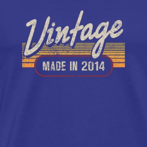 Vintage MADE IN 2014 - Männer Premium T-Shirt