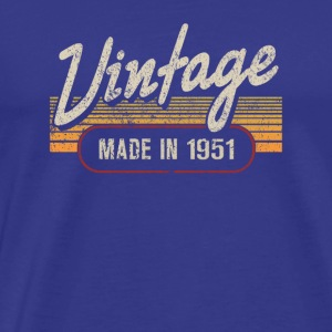 Vintage MADE IN 1951 - Premium-T-shirt herr