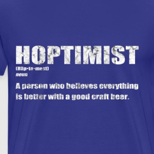 Hoptimist - craft beer T-Shirt - Men's Premium T-Shirt