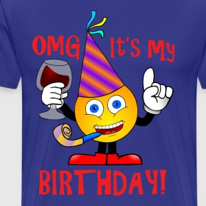 Emoji. Emoticon. Birthday Party.Love Wine.Birthday - Men's Premium T-Shirt