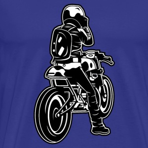 Cafe Racer motorcycle 02_black white - Men's Premium T-Shirt