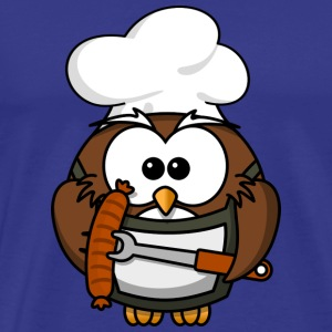 Owl as a grill master - Men's Premium T-Shirt