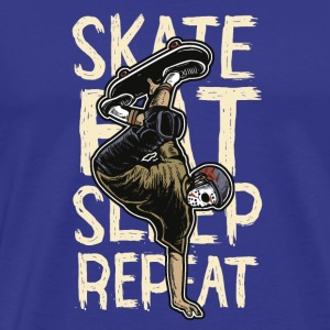 Skate eat sleep repeat - Männer Premium T-Shirt