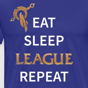Eat, Sleep, League, Repeat - Männer Premium T-Shirt