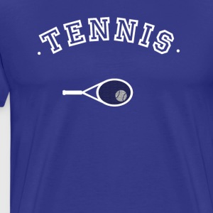 Tennisracket tennisbal jersey Club Teamsporten - Mannen Premium T-shirt