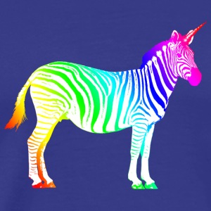 Zebra Unicorn Rainbow Magic Magic eventyr - Herre premium T-shirt