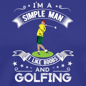 Golf and tits / golfers - Men's Premium T-Shirt