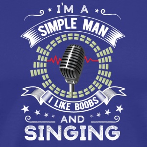 Tits and singing / singers - Men's Premium T-Shirt
