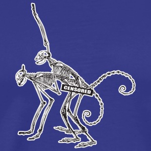 Censurerad Monkey Skeleton Sex - Premium-T-shirt herr