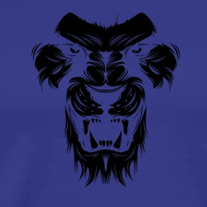 Lion silhuet design - løvehoved sort - Herre premium T-shirt