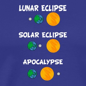 Lunar eclipse Solar eclipse and apocalypse - Men's Premium T-Shirt