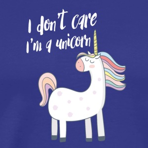 Unicorn pleje fri fantasi slik mad Lie - Herre premium T-shirt
