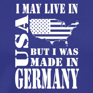 Live in USA made in Germany - Mannen Premium T-shirt